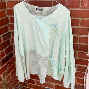 Animale mint green 100% linen top size XL